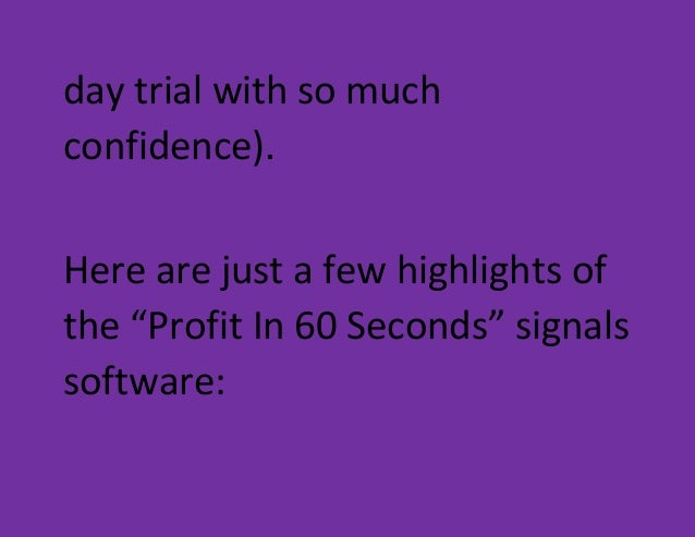 Binary options 60 seconds software