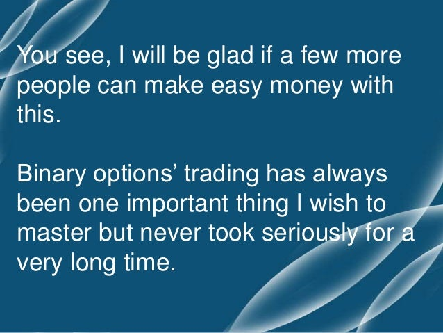 Can you make money with binary options
