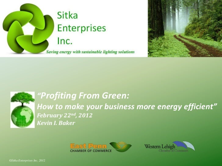 """Profiting From Green:                     How to make your business more energy efficient""                     February 2..."