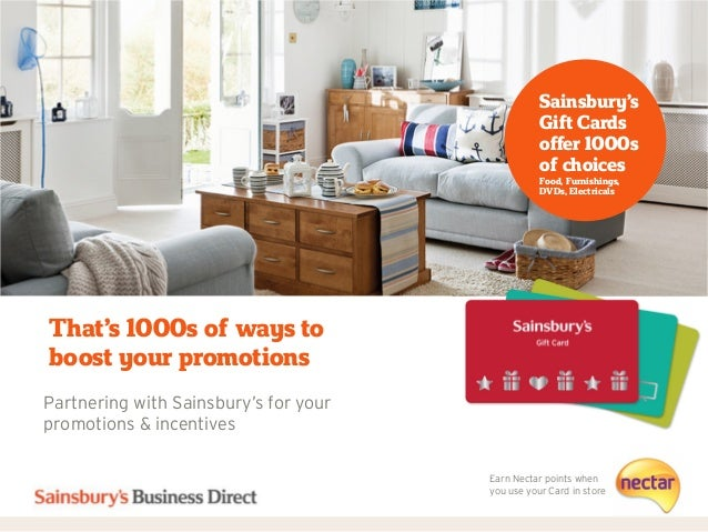 www.sainsburysbusinessdirect.co.ukFurnishingsFoodThat's 1000s of ways toboost your promotionsPartnering with Sainsbury's f...