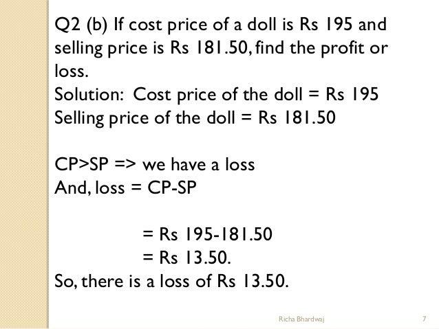 Worksheet Profit And Loss Worksheet For Grade 7 profit 7