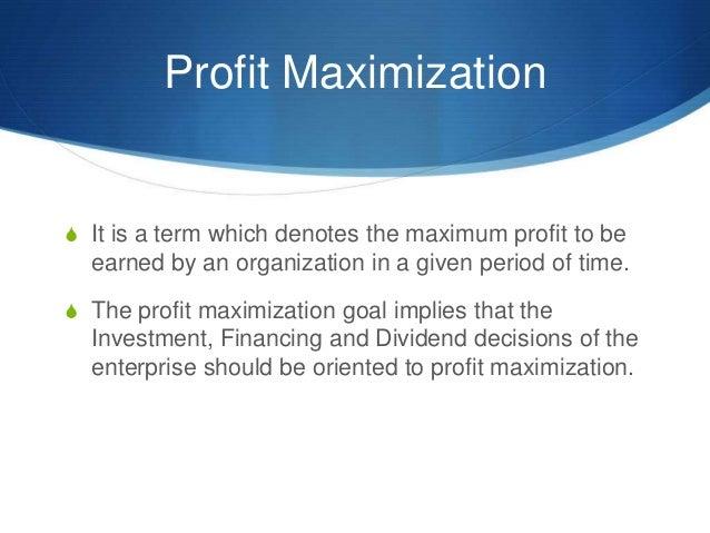 Profit max vs shareholder max