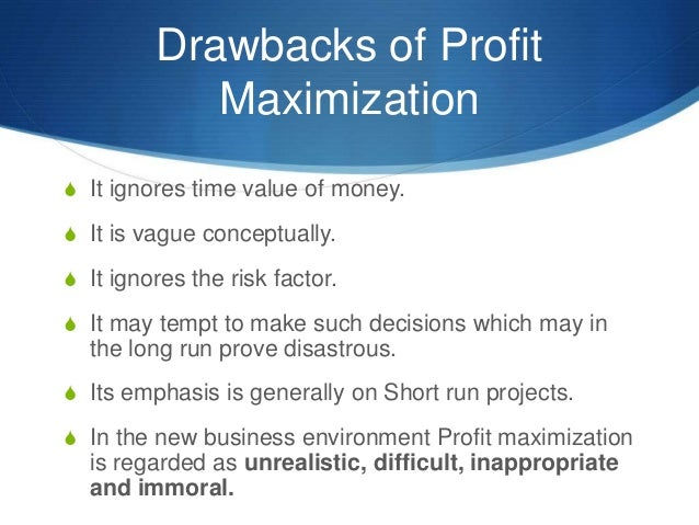 wealth maximization objective is a wide Wherever funds are involved, financial management is there there are two paramount objectives of the financial management: profit maximization and wealth maximization profit maximization as its name signifies refers that the profit of the firm should be increased while wealth maximization, aims at accelerating the worth of the entity.