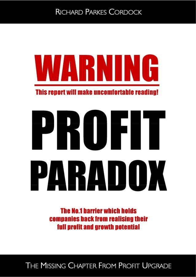 Profit Paradox: The Missing Chapter from Profit Upgrade  Page 9