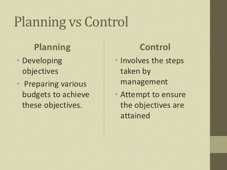 profit planning and control thesis The turn-over and the ultimate profit in a given company  approach to material management functions by combining planning, procurement and inventory control.