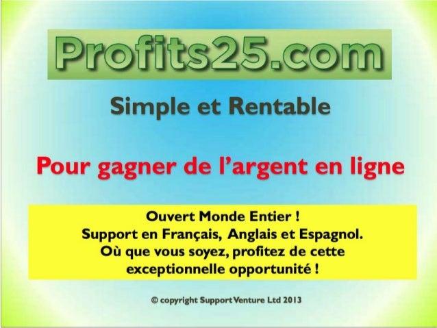 Presentation Profits25 francais