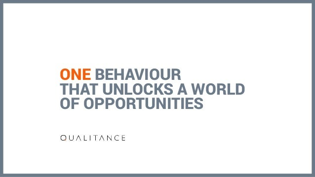 ONE BEHAVIOUR THAT UNLOCKS A WORLD OF OPPORTUNITIES