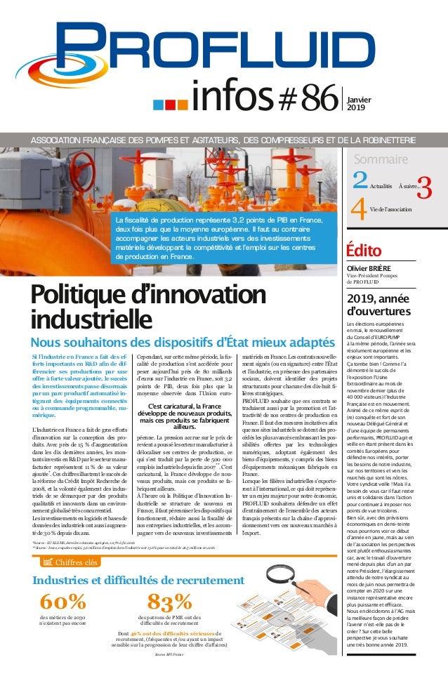 Édito Si l'industrie en France a fait des ef- forts importants en R&D afin de dif- férencier ses productions par une offre...