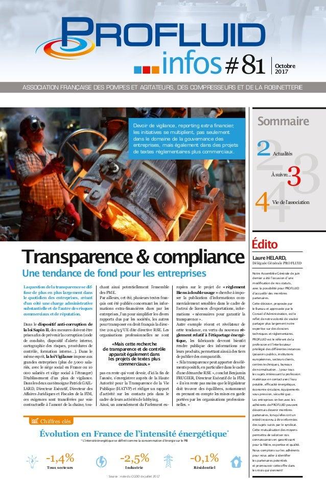 Évolution en France de l'intensité énergétique* Édito La question de la transparence se dif- fuse de plus en plus largemen...