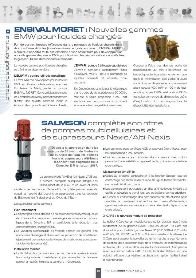 ENSIVAL MORET Nouvelles gammes                                      :                     EMW pour liquides chargéschez n...