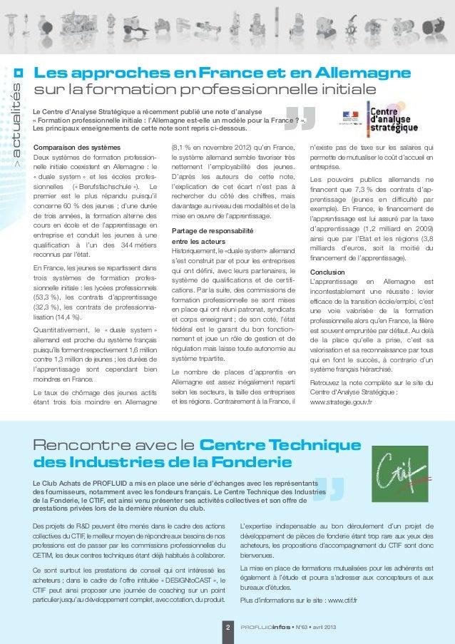 Les approches en France et en Allemagneactualités             sur la formation professionnelle initiale             Le C...