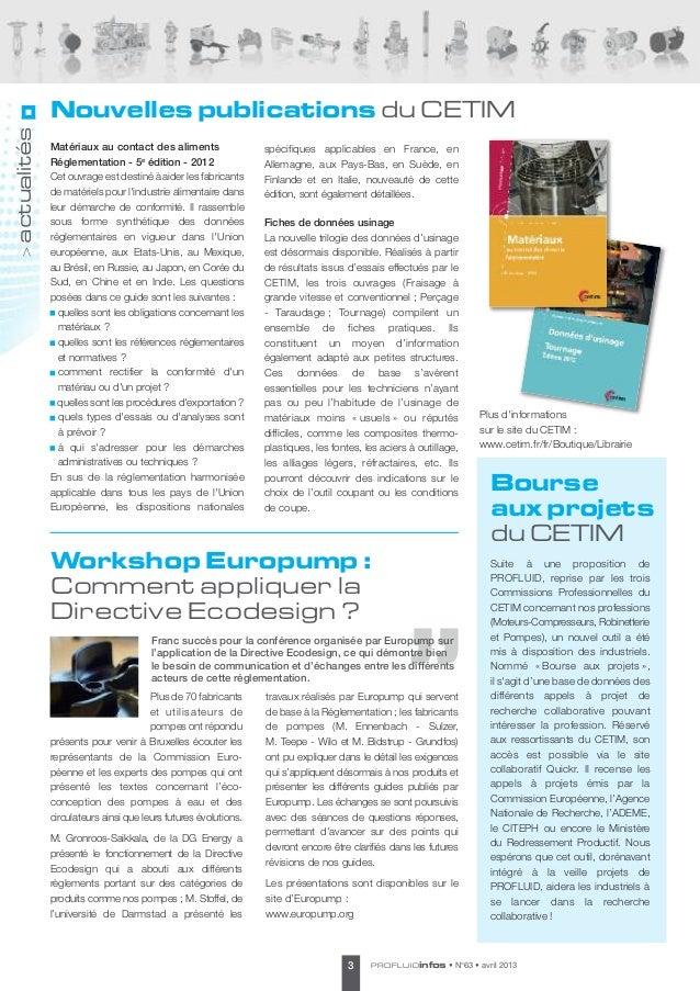 Nouvelles publications du CETIMactualités             Matériaux au contact des aliments                  spécifiques appli...
