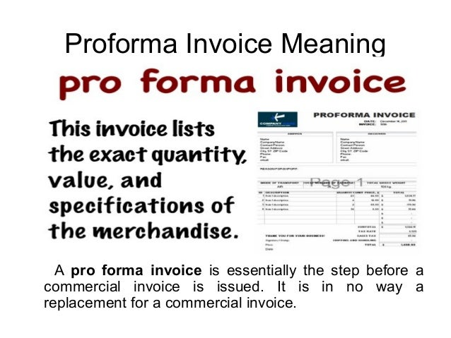 What Is Proforma Invoice - What is a proforma invoice