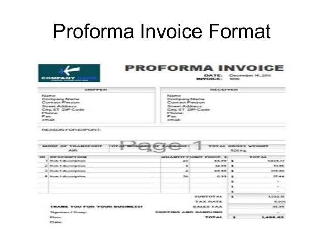 SlideShare  Proforma Invoice Format