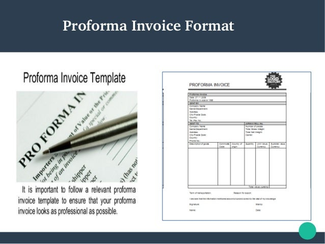 SlideShare  Proforma Invoice Samples