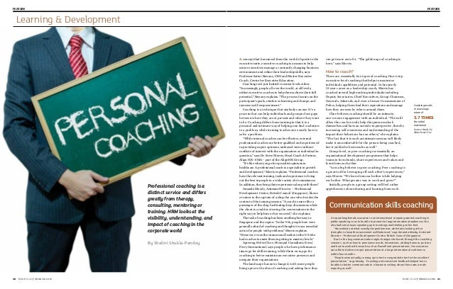 Feature  Feature  Learning & Development  Professional coaching is a distinct service and differs greatly from therapy, co...