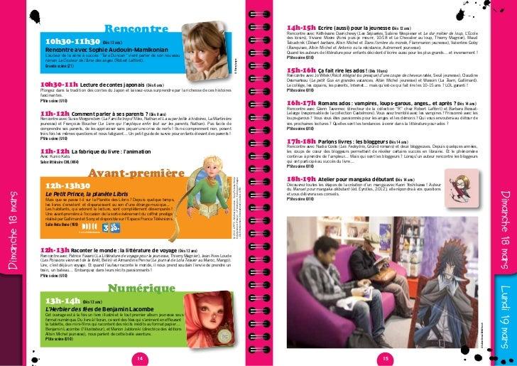 Programme Jeunesse 2012 Salon Du Livre