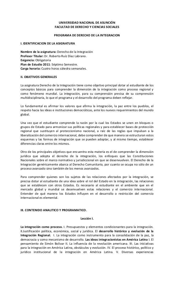 UNIVERSIDAD NACIONAL DE ASUNCIÓN                         FACULTAD DE DERECHO Y CIENCIAS SOCIALES                        PR...