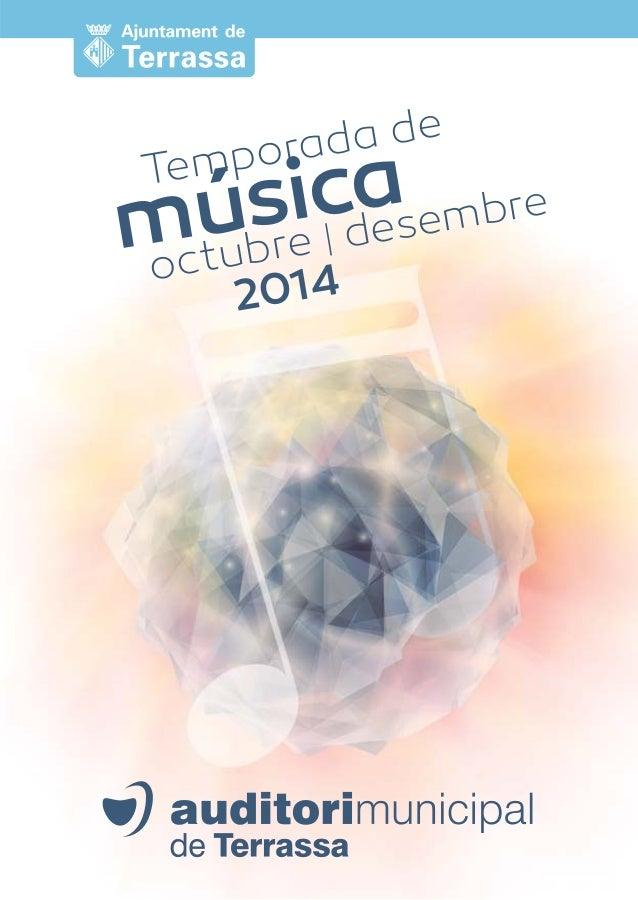 Temporada de música octubre | desembre  2014