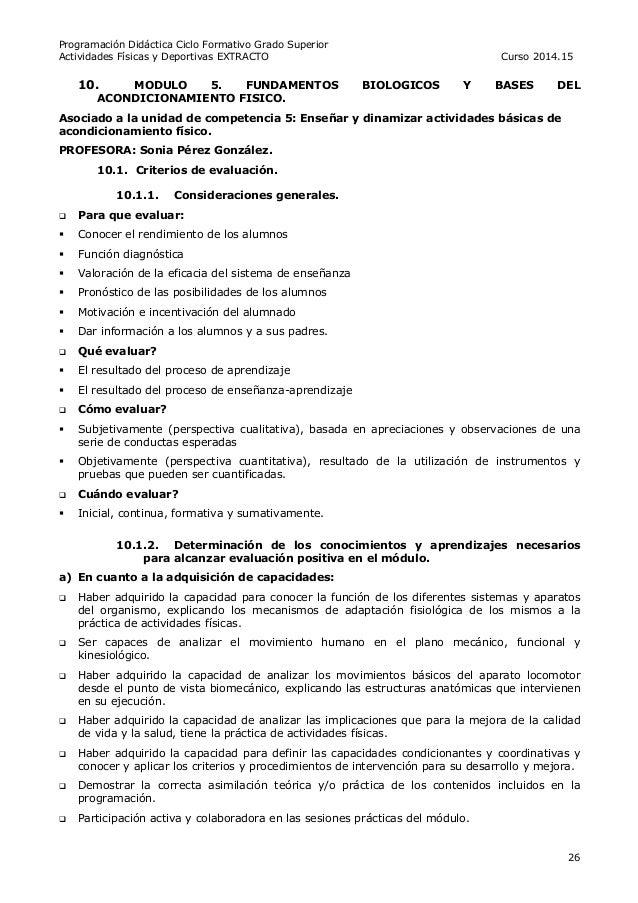 Programación Didáctica Tafad 14 15 Extracto