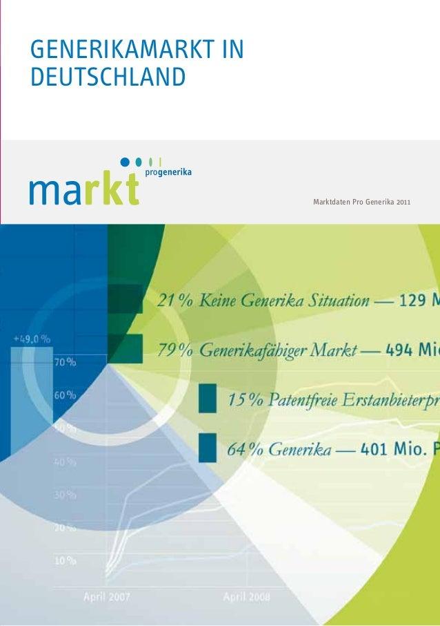 Generikamarkt in Deutschland  Marktdaten Pro Generika 2011