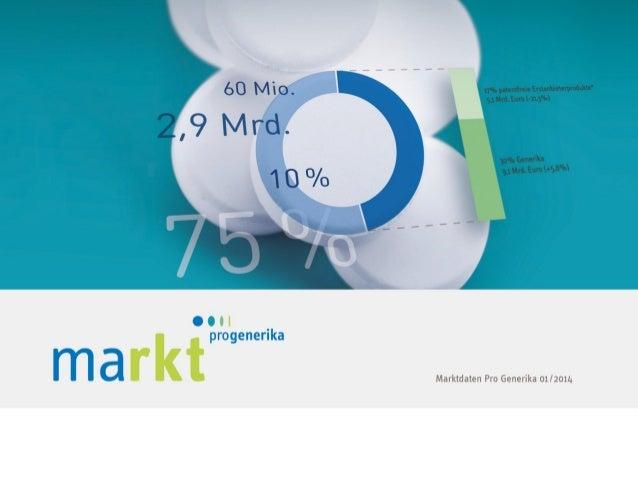 MARKT IM ÜBERBLICK Kapitel 1 | Marktdaten von Pro Generika 01/2014