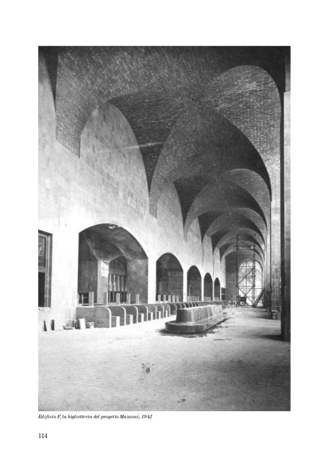 114 Edificio F, la biglietteria del progetto Mazzoni, 1942