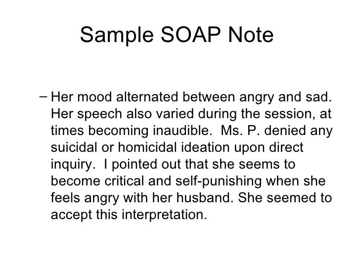 soap notes example counseling