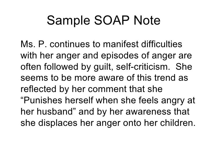 Sample Psychiatry Soap Note Progess Presentation2