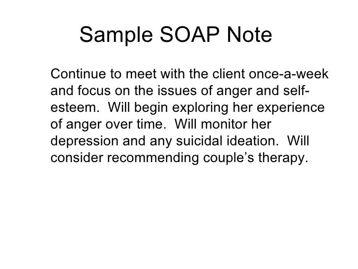soap notes for therapy