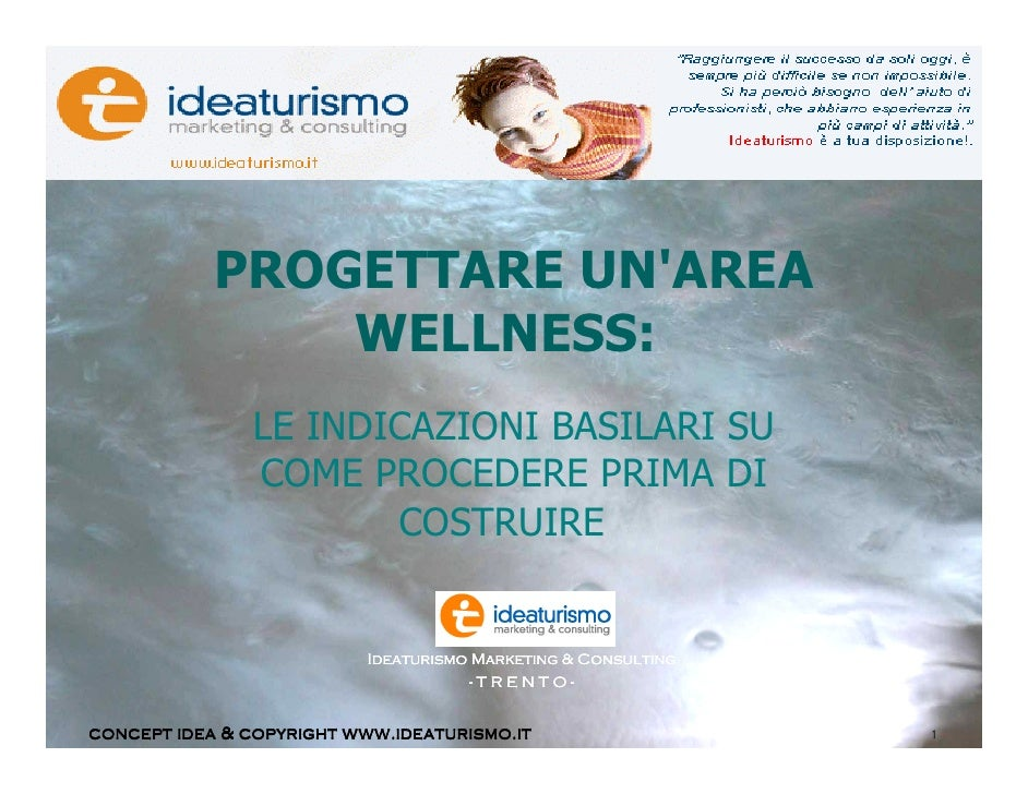 Progettare un'area wellness in hotel.