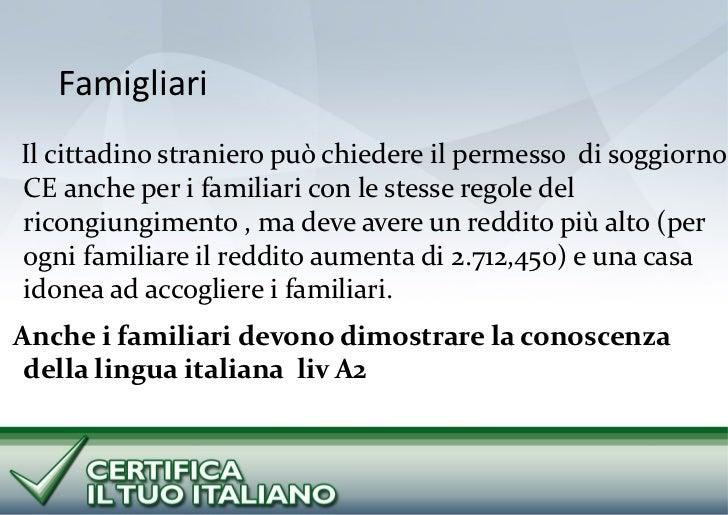 Progetti cti e vivere in italia for Permesso di soggiorno ricongiungimento familiare cittadino italiano