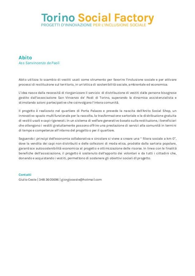 883ba525574a Abito Ass Sanvincenzo de Paoli Abito utilizza lo scambio di vestiti usati  come strumento per favorire ...
