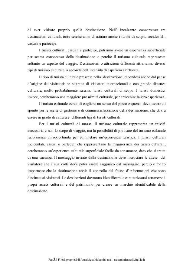 Progetto anno europeo concessione di annaluigia malagnini nordest 201 - Diversi tipi di turismo ...