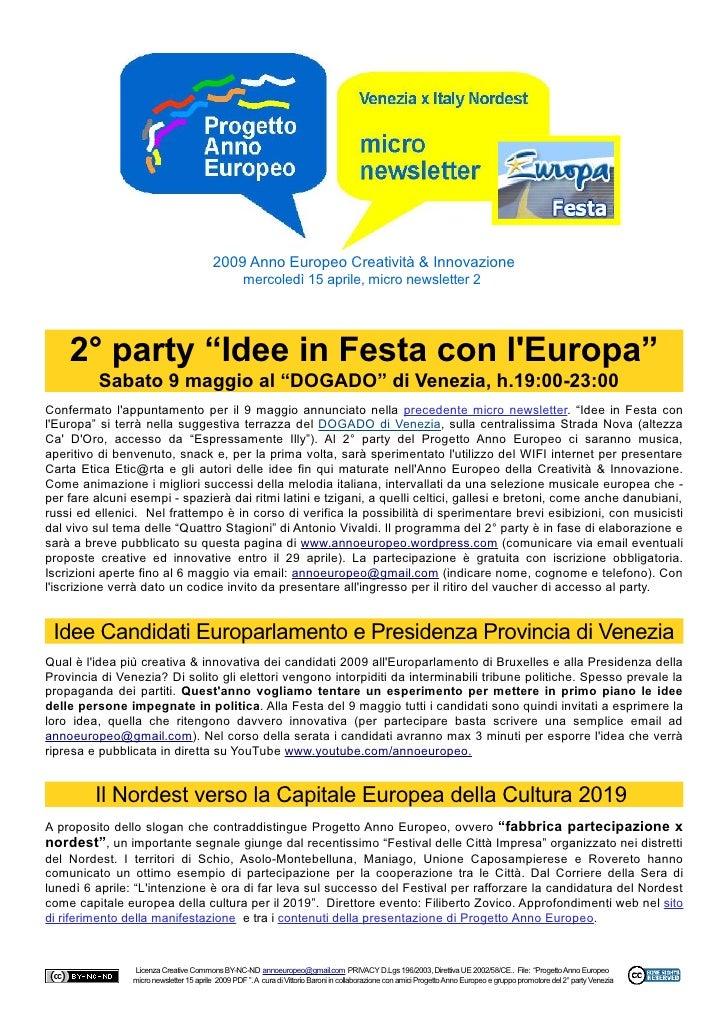 2009 Anno Europeo Creatività & Innovazione                                                    mercoledì 15 aprile, micro n...