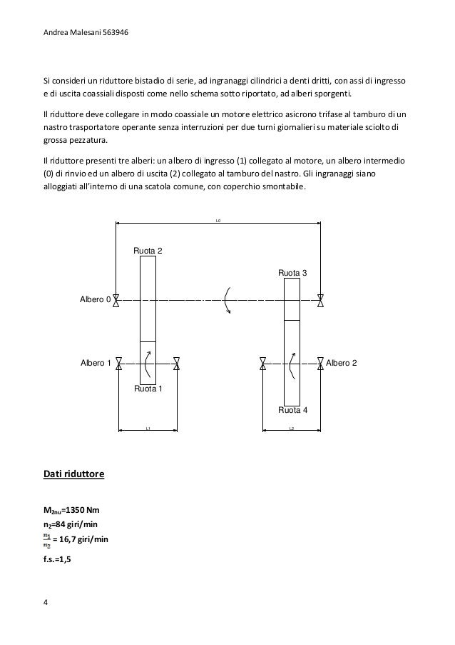 dimensionamento riduttore Dimensionamento del ponte riduttore secondario di una locomotiva di manovra d245 elaborato a cura di: ceglia diego anno accademico 2012-2013.