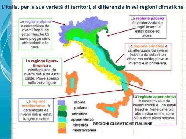 Cartina Dellitalia Con Zone Climatiche.Progetto Geografia
