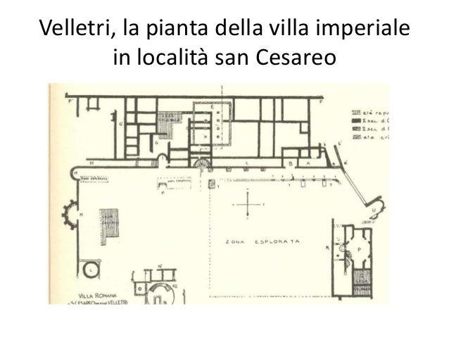 Velletri, la pianta della villa imperiale in località san Cesareo