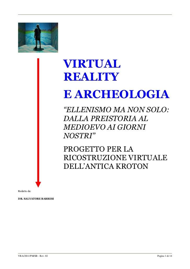 """VIRTUAL                           REALITY                           E ARCHEOLOGIA                           """"ELLENISMO MA ..."""