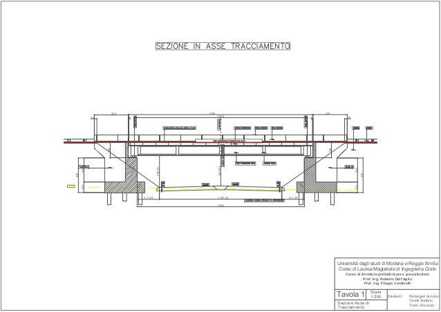 Progettare Un Ponte.Progettazione Di Un Ponte Stradale A A 2014 2015 Tavole
