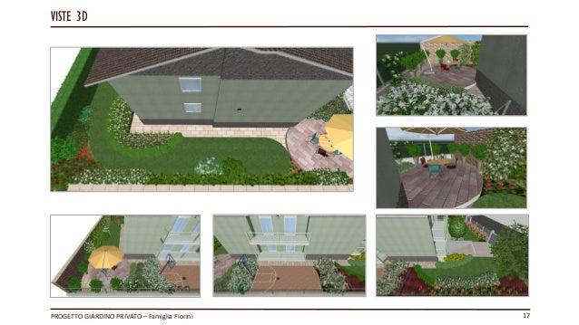 Progetto privato guercia giovanni esame corso garden design master le - Progetto giardino privato ...
