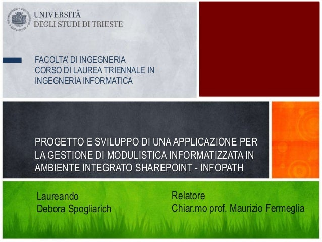 FACOLTA' DI INGEGNERIACORSO DI LAUREA TRIENNALE ININGEGNERIA INFORMATICAPROGETTO E SVILUPPO DI UNA APPLICAZIONE PERLA GEST...