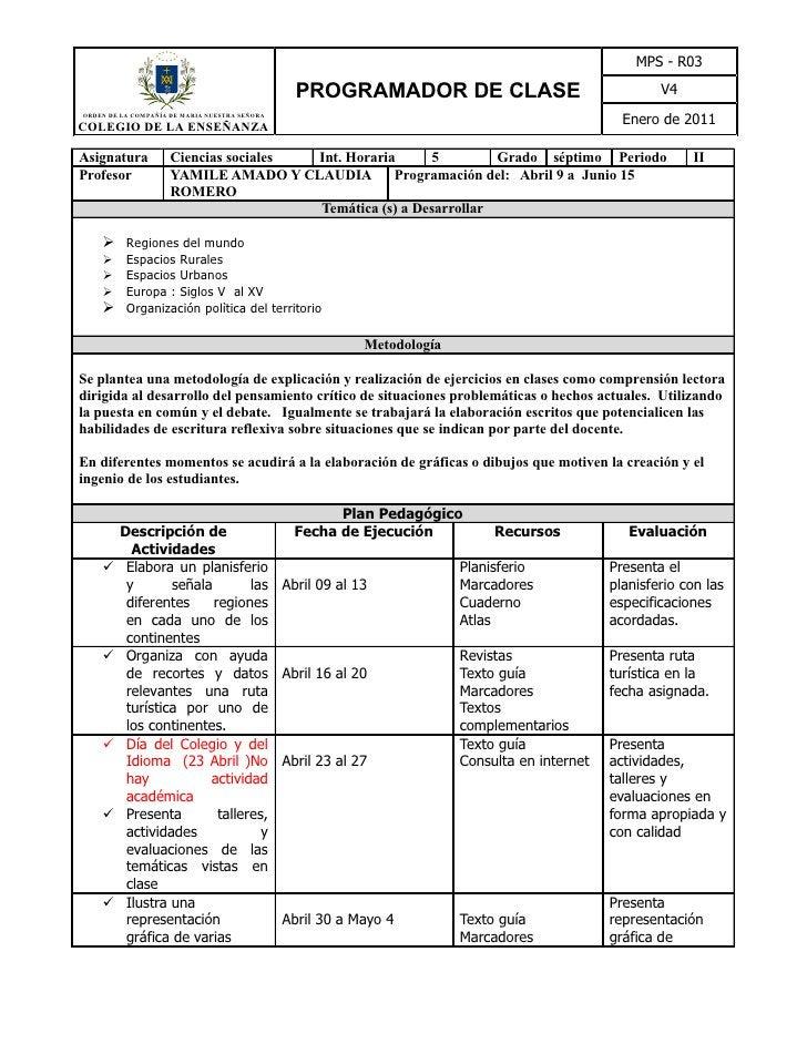 MPS - R03                                                 PROGRAMADOR DE CLASE                                    V4ORDEN ...