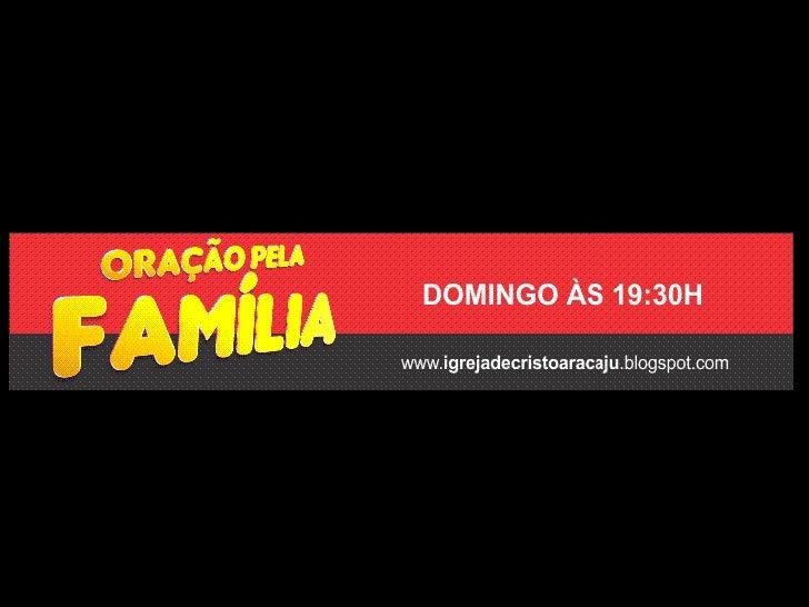 Programação Igreja de Cristo em Aracaju - SE