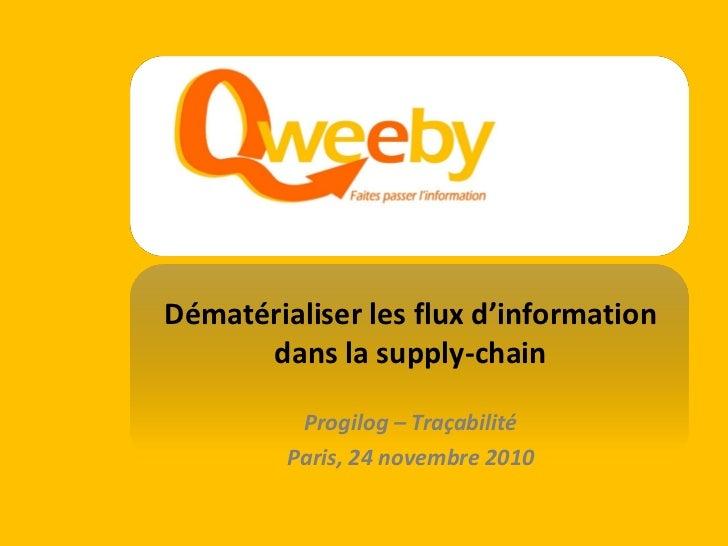 Dématérialiser les flux d'information                                     dans la supply-chain                            ...
