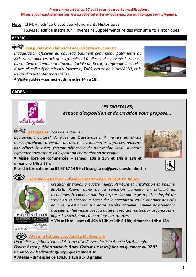 Journées du patrimoine dans le pays de Questembert Slide 2