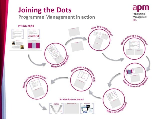 Joining the Dots  Programme Management in action  Introduction
