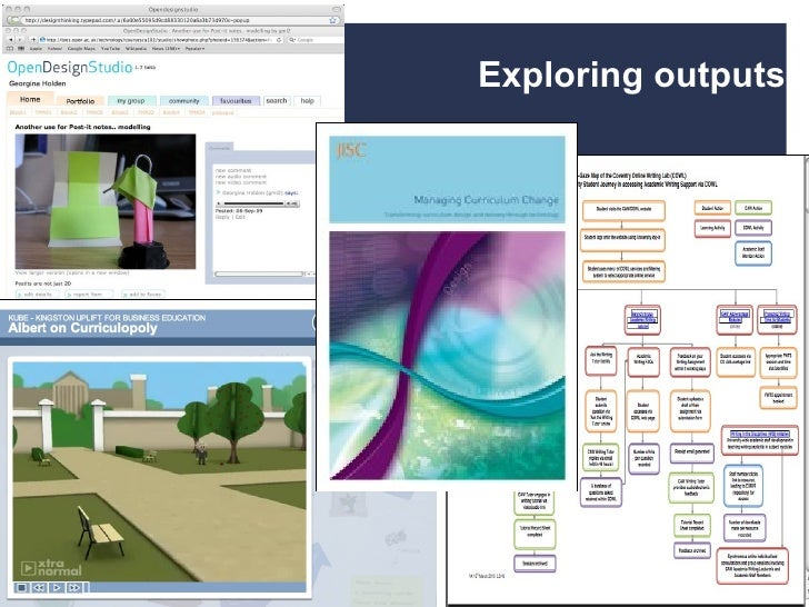 An overview of Curriculum Design and Delivery Programmes 10/05/10  | |  Slide  Exploring outputs