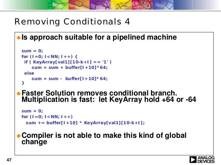 optimization c code on blackfin