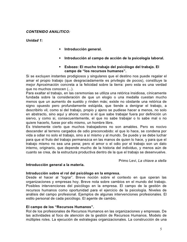 CONTENIDO ANALITICO:Unidad 1:                       Introducción general.                       Introducción al campo de...